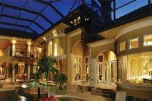 House Design - Mediterranean Exterior - Rear Elevation Plan #930-327