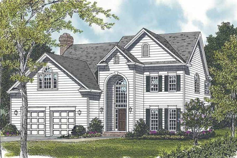 Traditional Exterior - Front Elevation Plan #453-512 - Houseplans.com