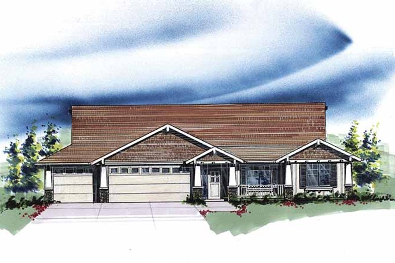 Country Exterior - Front Elevation Plan #509-274