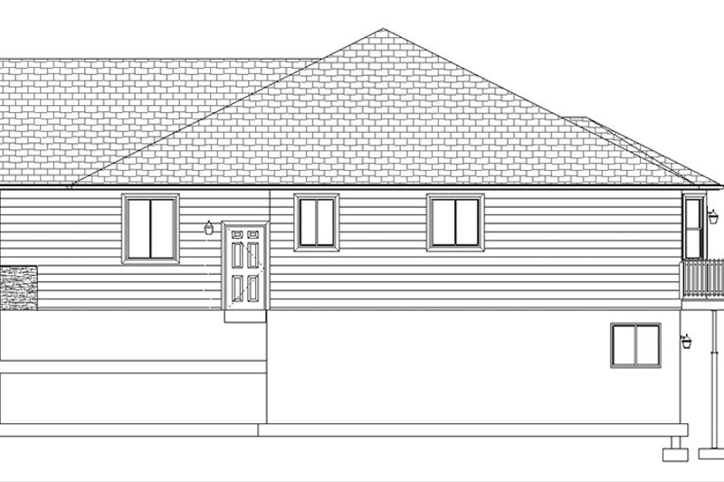 Ranch Exterior - Other Elevation Plan #1060-5 - Houseplans.com