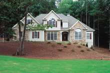 Home Plan - European Exterior - Front Elevation Plan #437-65