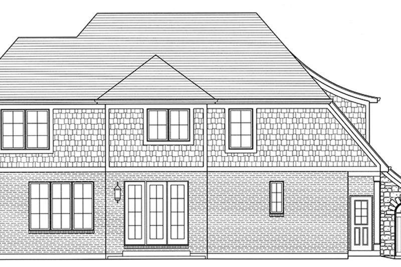Tudor Exterior - Rear Elevation Plan #46-853 - Houseplans.com