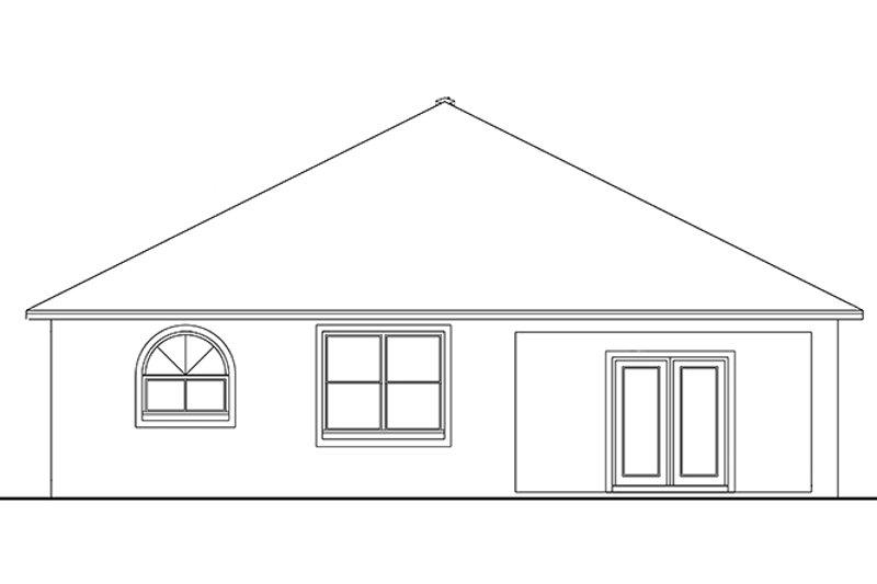 Craftsman Exterior - Rear Elevation Plan #1058-67 - Houseplans.com