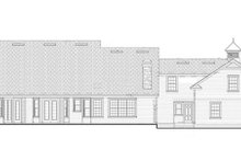 Colonial Exterior - Rear Elevation Plan #417-812