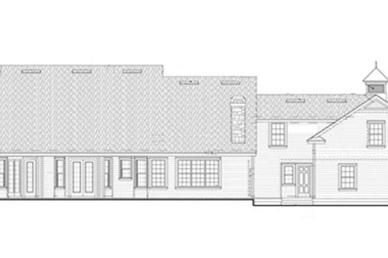 Colonial Exterior - Rear Elevation Plan #417-812 - Houseplans.com