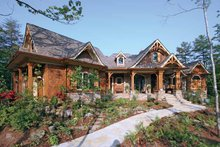 Dream House Plan - Craftsman Exterior - Front Elevation Plan #54-245