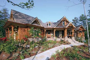 Architectural House Design - Craftsman Exterior - Front Elevation Plan #54-245