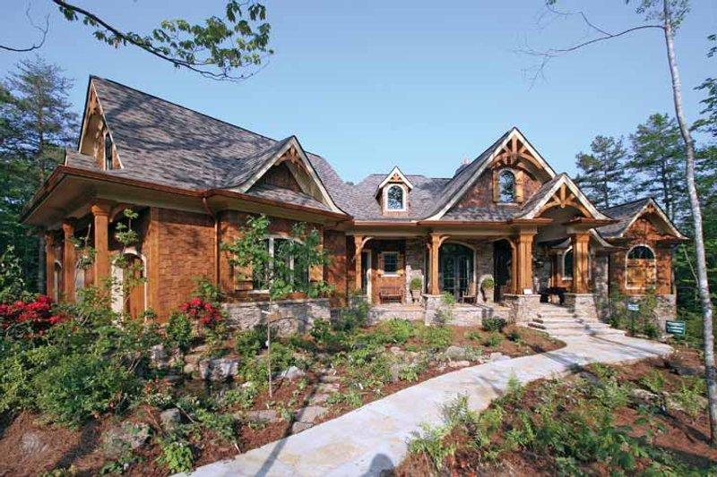 House Plan Design - Craftsman Exterior - Front Elevation Plan #54-245