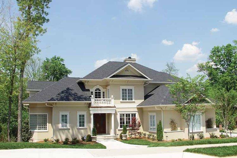 Dream House Plan - Mediterranean Exterior - Front Elevation Plan #453-439