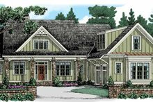 Colonial Exterior - Front Elevation Plan #927-945