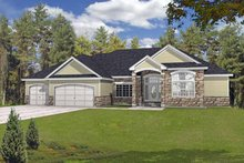 House Plan Design - Traditional Exterior - Front Elevation Plan #1037-17