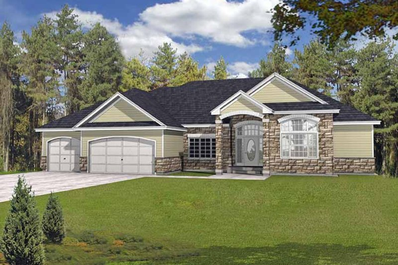 Traditional Exterior - Front Elevation Plan #1037-17