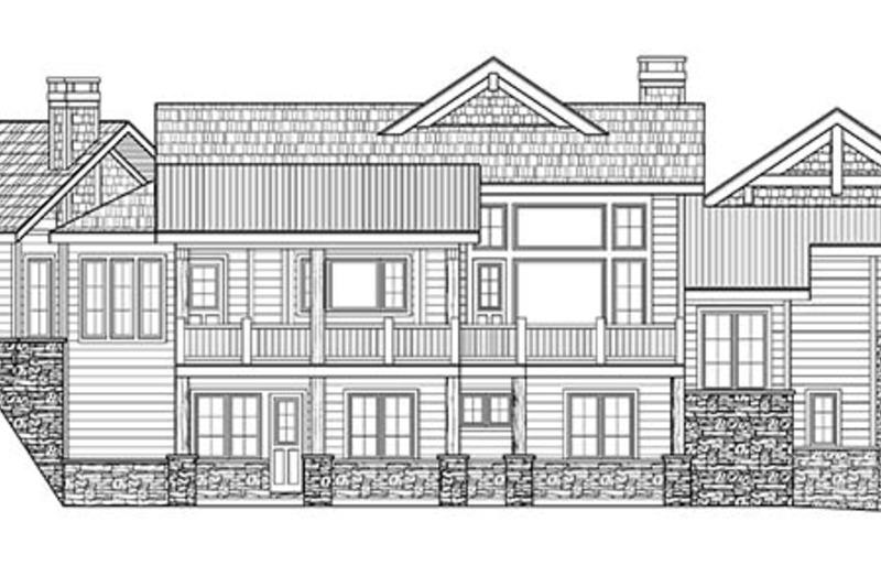 Country Exterior - Rear Elevation Plan #942-24 - Houseplans.com