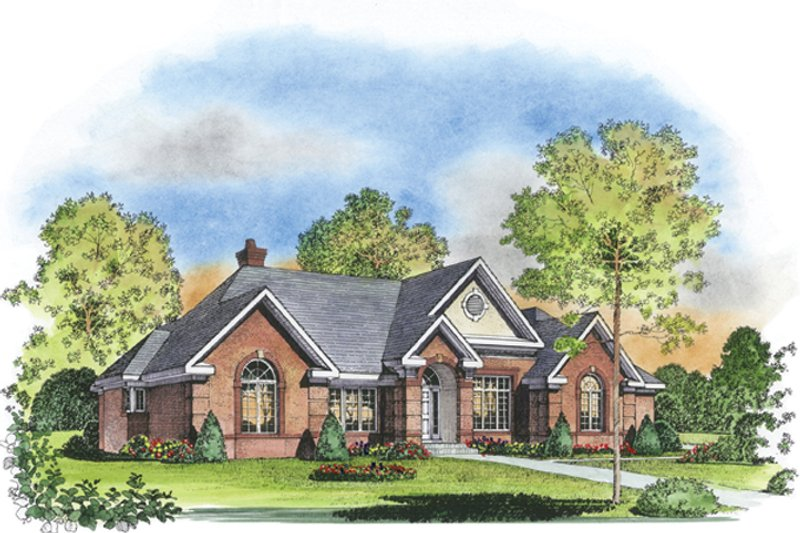 Architectural House Design - Colonial Exterior - Front Elevation Plan #1016-30