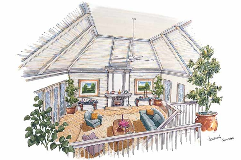 Country Interior - Family Room Plan #930-31 - Houseplans.com