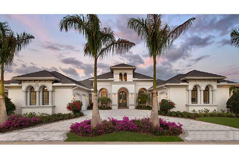 Dream House Plan - Mediterranean Exterior - Front Elevation Plan #1017-166