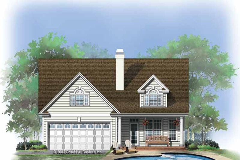 Traditional Exterior - Rear Elevation Plan #929-770 - Houseplans.com