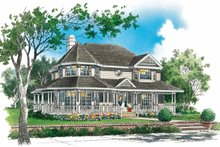 Victorian Exterior - Front Elevation Plan #929-145