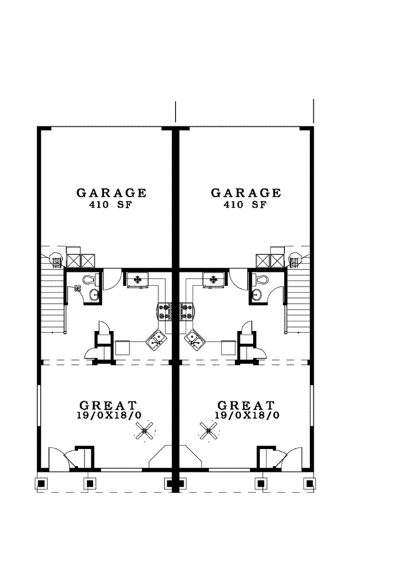 Craftsman Floor Plan - Main Floor Plan Plan #943-38