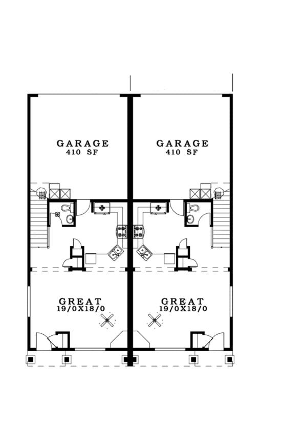 House Plan Design - Craftsman Floor Plan - Main Floor Plan #943-38