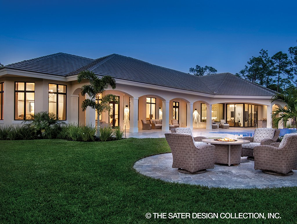 The Sater Design Collection mediterranean style house plan - 4 beds 4.5 baths 4030 sq/ft plan #930-473