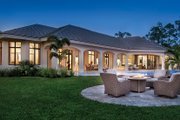 Mediterranean Style House Plan - 4 Beds 4.5 Baths 4030 Sq/Ft Plan #930-473 Exterior - Rear Elevation