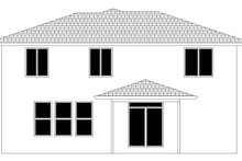 House Plan Design - Contemporary Exterior - Rear Elevation Plan #943-49