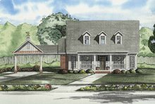 House Plan Design - Colonial Exterior - Front Elevation Plan #17-2862