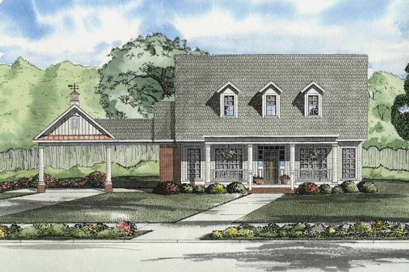 Dream House Plan - Colonial Exterior - Front Elevation Plan #17-2862