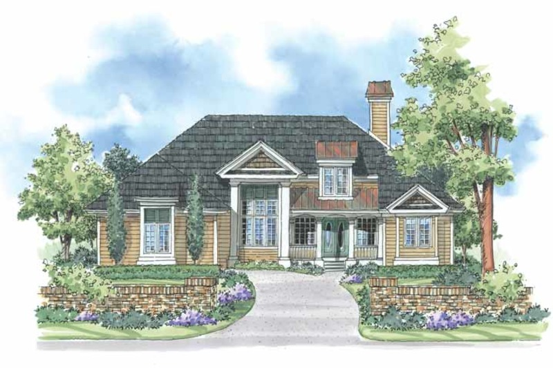 Country Exterior - Front Elevation Plan #930-184 - Houseplans.com