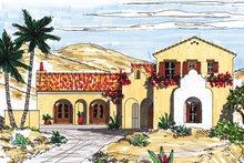 House Plan Design - Mediterranean Exterior - Front Elevation Plan #76-122