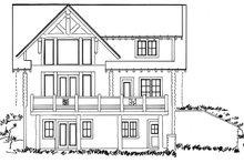 Log Exterior - Rear Elevation Plan #942-23