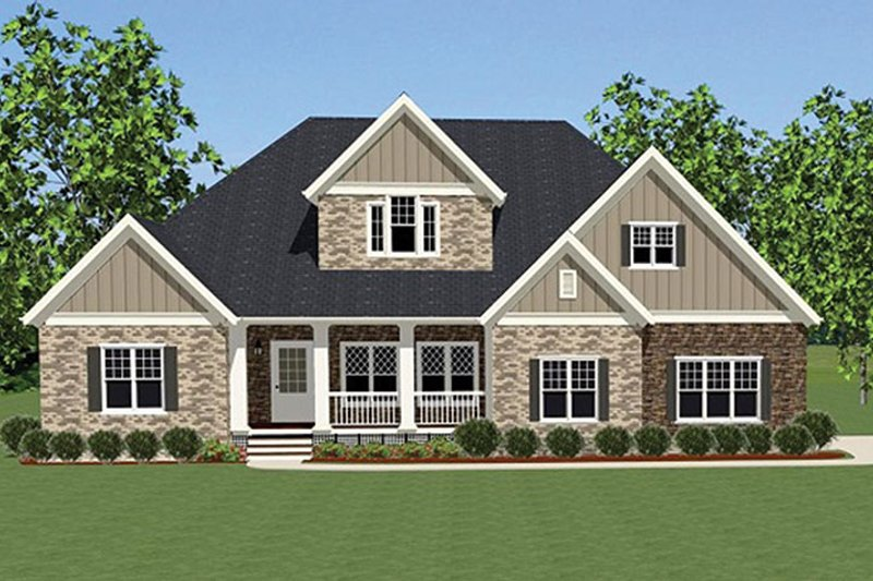 Country Exterior - Front Elevation Plan #898-35