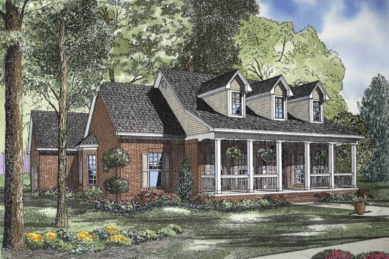 Country Exterior - Front Elevation Plan #17-2834 - Houseplans.com