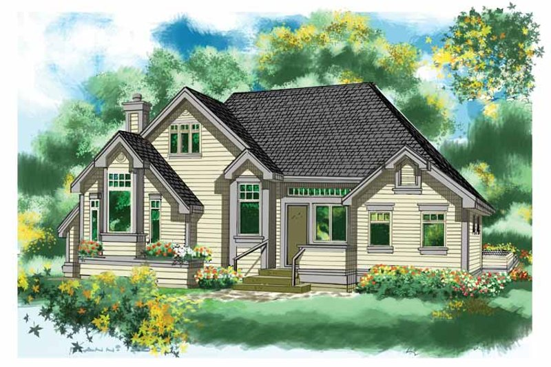 Country Exterior - Front Elevation Plan #118-146