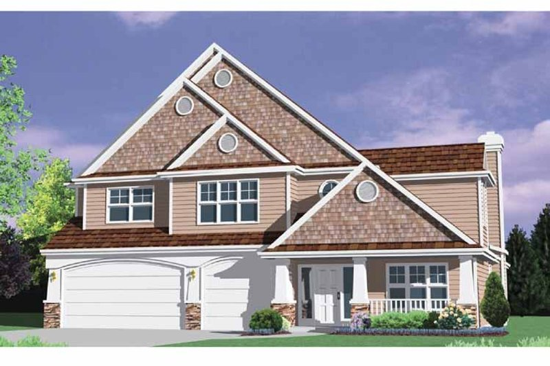 Traditional Exterior - Front Elevation Plan #509-369 - Houseplans.com