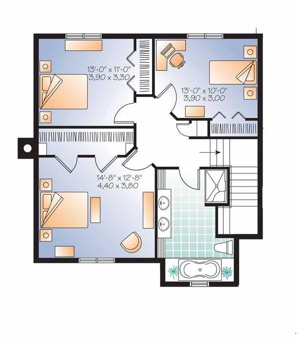 Country Floor Plan - Upper Floor Plan Plan #23-2509