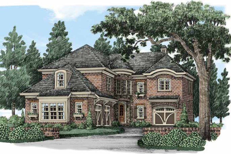 European Exterior - Front Elevation Plan #927-487