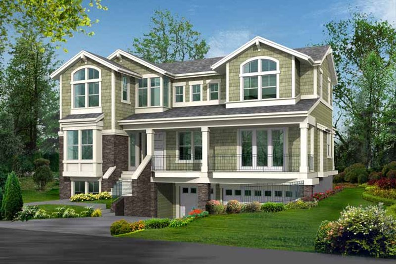Craftsman Exterior - Front Elevation Plan #132-393