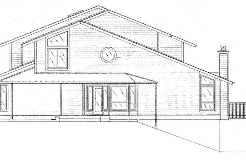 Contemporary Exterior - Other Elevation Plan #320-1008 - Houseplans.com