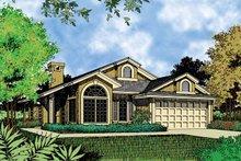 Architectural House Design - Mediterranean Exterior - Front Elevation Plan #417-461