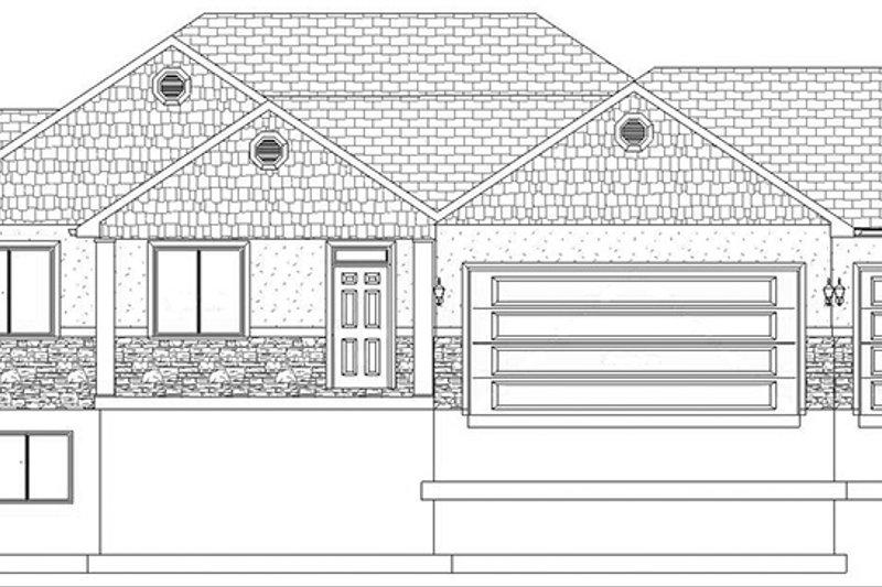 Ranch Exterior - Front Elevation Plan #1060-11 - Houseplans.com