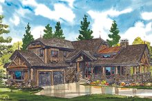 Dream House Plan - Cabin Exterior - Front Elevation Plan #942-36