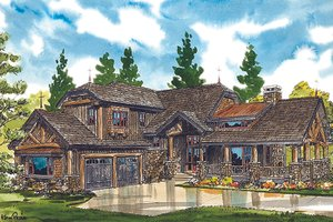 House Plan Design - Cabin Exterior - Front Elevation Plan #942-36