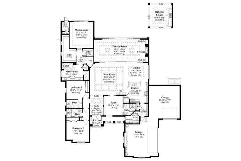 Mediterranean Floor Plan - Main Floor Plan Plan #930-456