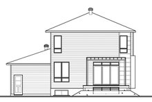 Architectural House Design - Contemporary Exterior - Rear Elevation Plan #23-2585