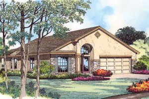 Country Exterior - Front Elevation Plan #1015-39