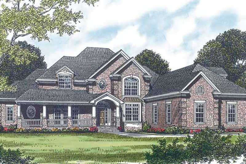 Dream House Plan - Traditional Exterior - Front Elevation Plan #453-451
