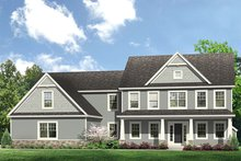 House Plan Design - Colonial Exterior - Front Elevation Plan #1010-204