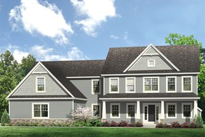 Architectural House Design - Colonial Exterior - Front Elevation Plan #1010-204
